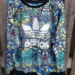 Rave' Butterfly Print French Terry Sweatshirt